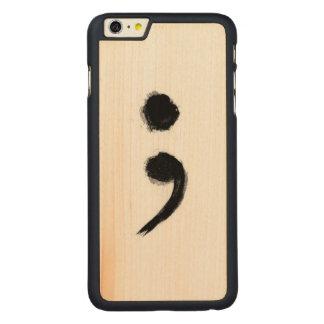 SemiColon Phone Case Carved® Maple iPhone 6 Plus Slim Case