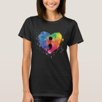 Semicolon Project Mental Health Awareness T-Shirt