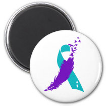 Semicolon Suicide Awareness Ribbon Magnet