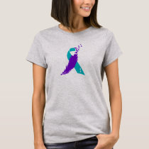 Semicolon Suicide Awareness Ribbon T-Shirt