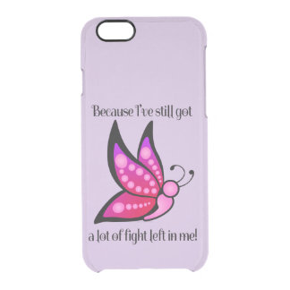 Semicolon Suicide/Depression Awareness Butterfly Clear iPhone 6/6S Case