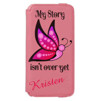 Semicolon Suicide/Depression Awareness Butterfly iPhone 6/6s Wallet Case
