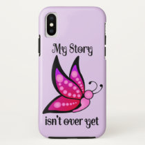 Semicolon Suicide/Depression Awareness Butterfly iPhone X Case
