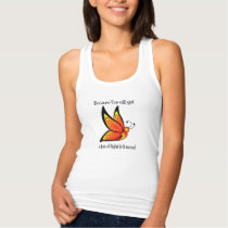 Semicolon Suicide/Depression Awareness Butterfly Tank Top