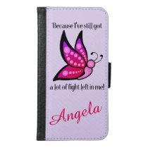 Semicolon Suicide/Depression Awareness Wallet Phone Case For Samsung Galaxy S6