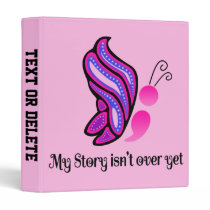 Semicolon Suicide/Depression Story Butterfly 3 Ring Binder