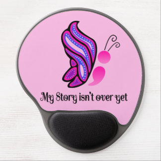 Semicolon Suicide/Depression Story Butterfly Gel Mouse Pad