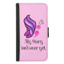 Semicolon Suicide/Depression Story Butterfly Samsung Galaxy S5 Wallet Case