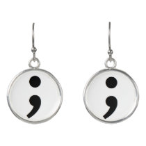 Semicolon Suicide Prevention earrings