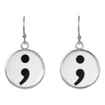 Semicolon Suicide Prevention earrings