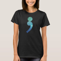 Semicolon t-shirt Depression/Mental Health