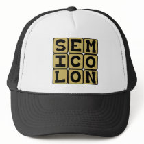 Semicolon, Type of Punctuation Trucker Hat
