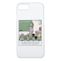 "Semicolon ""Winky Face"" Teacher Cartoon iPhone 8/7 Case"
