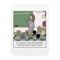 "Semicolon ""Winky Face"" Teacher Cartoon Magnet"