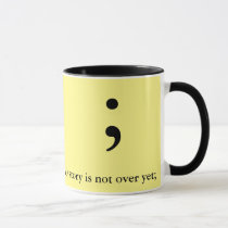 Semicolon Yellow & Blk - My story is not over yet; Mug