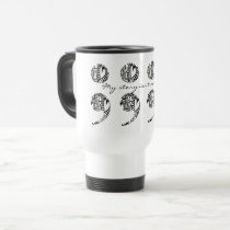 "Semicolon Zendoodle: ""My story..."" Travel Mug gift"