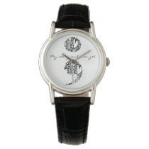 "Semicolon Zendoodle Now Watch: ""My story..."" Wrist Watch"