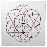 Semilla de los triángulos de la vida 2 servilleta de papel
