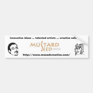 Semilla de mostaza creativa pegatina de parachoque