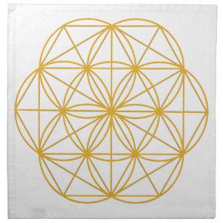 Semilla del oro de la vida servilleta de papel