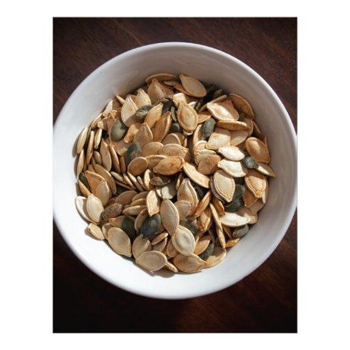 Semillas de calabaza plantilla de membrete