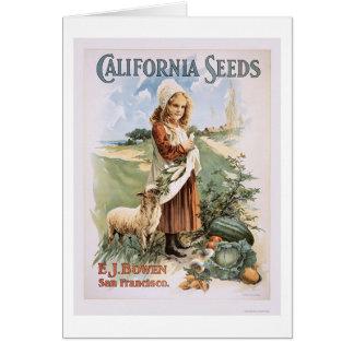 Semillas de California Tarjeta De Felicitación