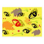 Semillas de flores del arte pop postales