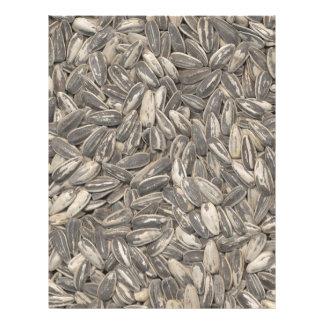 Semillas de girasol plantilla de membrete