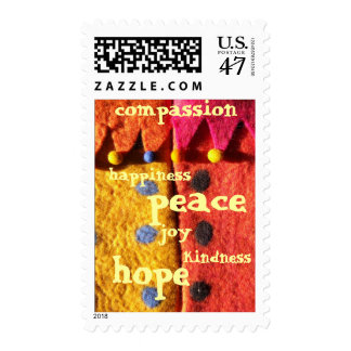 Semillas de la compasión sello postal