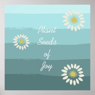Semillas de la planta de la alegría impresiones