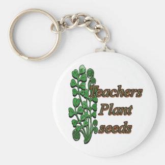 Semillas de la planta de los profesores llavero redondo tipo pin