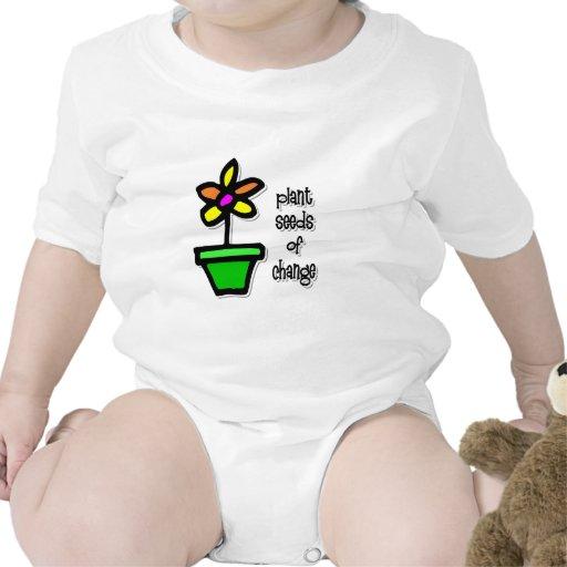 Semillas de la planta del cambio trajes de bebé
