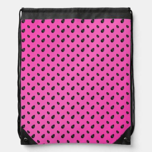 Semillas rosadas de la sandía mochilas