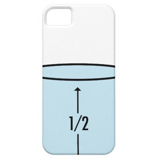 Semilleno de cristal - optimismo iPhone 5 Case-Mate funda