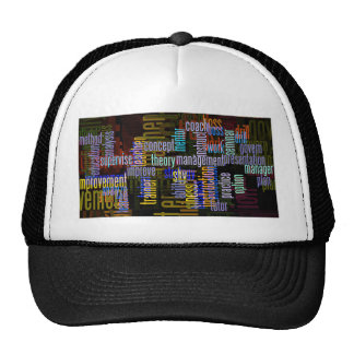 seminar-407292 WORK RELATED TYPOGRAPHY COLORFUL WO Mesh Hats