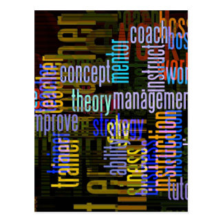 seminar-407292 WORK RELATED TYPOGRAPHY COLORFUL WO Postcard
