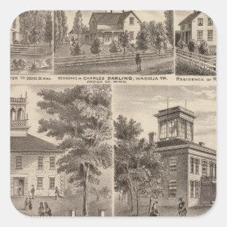 Seminario metodista metodista, Wasioja, Minnesota Colcomanias Cuadradas Personalizadas