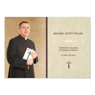 Seminary Graduation Custom Photo Announcement