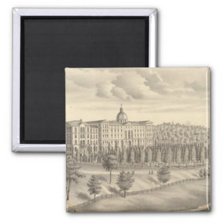 Seminary of St Francis of Sales, Milwaukee Co Wis 2 Inch Square Magnet