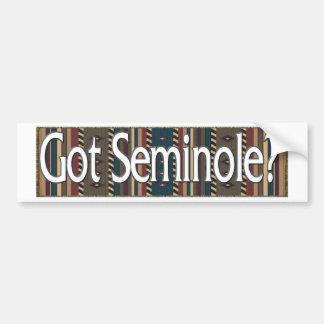 Seminole Pegatina De Parachoque