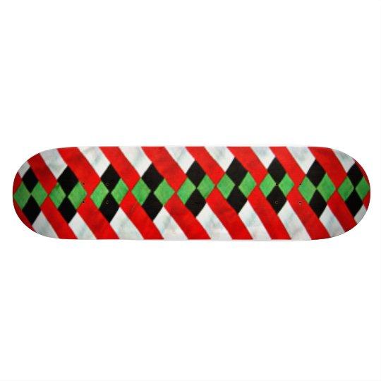 Seminole Quilt Art Skateboard