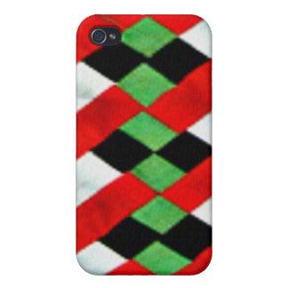 Seminole Quilt Vintage Art Speck iPhone 4 Case