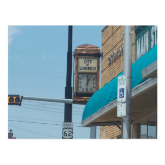 seminole-town-hall postcard