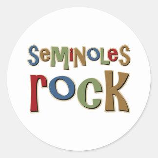 Seminoles Rock Classic Round Sticker