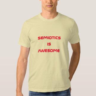 semiotics is awesome tee shirt