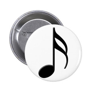 Semiquaver - símbolo de música de la décimosexta n pin redondo 5 cm