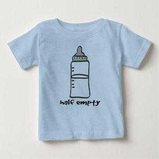 Semivacío - una camiseta divertida del bebé playera para bebé