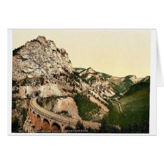 Semmering Railway, viaduct over the Kalte Rinne, S Greeting Card