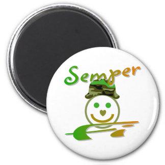 Semper Fi 2 Inch Round Magnet