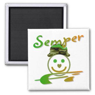 Semper Fi 2 Inch Square Magnet